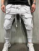 baratos Calças e Shorts Masculinos-Homens Básico Calças Esportivas Calças - Sólido Algodão Branco Preto Cinzento US36 / UK36 / EU44 US38 / UK38 / EU46 US40 / UK40 / EU48