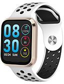 baratos Smart watch-Relógio inteligente Digital Estilo Moderno Esportivo Silicone 30 m Impermeável Monitor de Batimento Cardíaco Bluetooth Digital Casual Ao ar Livre - Preto Dourado Prata