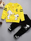 זול לבנים סטים של ביגוד לתינוקות-סט של בגדים שרוול ארוך גיאומטרי בנים תִינוֹק