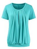 billige Toppe-T-skjorte Dame - Ensfarget, Utskjæring / Lapper Grunnleggende Grønn