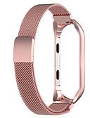 baratos Bandas de Smartwatch-faixa de relógio para mi banda 4 / mi banda 3 xiaomi milanese laço pulseira de aço inoxidável s