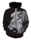 ราคาถูก เสื้อฮู้ดและเสื้อกันหนาว-สำหรับผู้ชาย ไม่เป็นทางการ / Street Chic Hoodie 3D