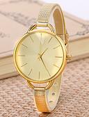 baratos Relógios Vestido-Relógio Elegante Aço Inoxidável Analógico Dourado