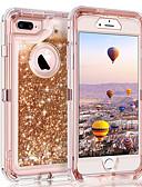 billige iPhone-etuier-Etui Til Apple iPhone XS / iPhone XR / iPhone XS Max Flommende væske / Glitter Bakdeksel Glimtende Glitter Hard PC