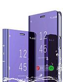 billige Etuier/deksler til Huawei-Etui Til Huawei Huawei P Smart 2019 med stativ / Belegg / Speil Heldekkende etui Ensfarget Hard PU Leather / PC