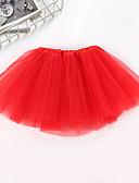 povoljno Suknje za djevojčice-Djeca Djevojčice Osnovni Jednobojni Mrežica Suknja Blushing Pink