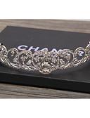 זול אביזרים-סגסוגת Tiaras / מצנפת / אביזר לשיער עם ריינסטון / קריסטלים / אבנים נוצצות חלק 1 חתונה / לבוש יומיומי כיסוי ראש
