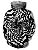 Χαμηλού Κόστους Αντρικές Μπλούζες με Κουκούλα & Φούτερ-Ανδρικά Καθημερινό / Κομψό στυλ street Φούτερ με Κουκούλα - Γεωμετρικό / Συνδυασμός Χρωμάτων / 3D