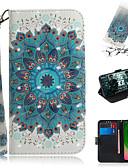 billige Vesker og deksler-Etui Til Motorola Moto G7 / Moto G7 Plus / Moto G7 Play Lommebok / Kortholder / med stativ Heldekkende etui Blomsternål i krystall PU Leather