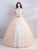 Χαμηλού Κόστους Βραδινά Φορέματα-Βραδινή τουαλέτα Ζιβάγκο Μακρύ Τούλι Ιμάντες Φορέματα γάμου φτιαγμένα στο μέτρο με Χάντρες / Διακοσμητικά Επιράμματα / Κρυστάλλινη λεπτομέρεια 2020