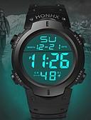 billige Digitale klokker-Herre Sportsklokke Quartz Sport Silikon Svart 30 m Kalender LED Lys Selvlysende Digital Mote - Svart Grønn Blå Ett år Batteri Levetid / Rustfritt stål