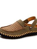 povoljno Muške košulje-Muškarci Udobne cipele Koža Ljeto / Proljeće ljeto Ležerne prilike Sandale Prozračnost Tamno smeđa / Žutomrk