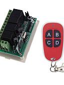 Χαμηλού Κόστους Καλώδια & Φορτιστής-Smart Switch AK-RK04+AK-FS04 για Καθημερινά / Αυτοκίνητο / Υπνοδωμάτιο Τηλεκατευθυνόμενος / Δημιουργικό / Εύκολη εγκατάσταση Τηλεχειριστήριο Ασύρματη 12 V