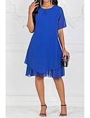 povoljno Haljine za NG-ženski midi linija haljina šifon plava s m l xl