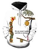 povoljno Muške majice s kapuljačom i trenirke-Muškarci Ležerne prilike / Osnovni Hoodie Geometrijski oblici / 3D