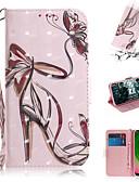 baratos Cases & Capas-Capinha Para Motorola Moto G7 / Moto G7 Plus / Moto G7 Play Carteira / Porta-Cartão / Com Suporte Capa Proteção Completa Mulher Sensual PU Leather