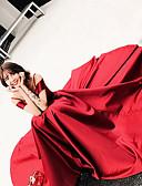 billige Aftenkjoler-A-linje Spagettistropper Gulvlang Sateng / Elastisk sateng / Blomsterblonder Chic & Moderne / Åpen rygg Skoleball Kjole 2020 med Perlearbeid / Blondeinnlegg