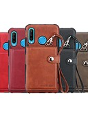Χαμηλού Κόστους Αξεσουάρ Samsung-tok Για Huawei Huawei P30 / Huawei P30 Pro / Huawei P30 Lite Πορτοφόλι / Θήκη καρτών / Ανθεκτική σε πτώσεις Πίσω Κάλυμμα Μονόχρωμο PU δέρμα
