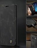 baratos Acessórios para Samsung-Capinha Para Samsung Galaxy S9 / S9 Plus / S8 Plus Carteira / Porta-Cartão / Antichoque Capa Proteção Completa Sólido Rígida PU Leather / Ultra-Fina