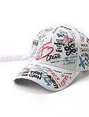cheap Women's Hats-Men's Women's Active Basic Cute Cotton Baseball Cap-Solid Colored Floral Print All Seasons White Black