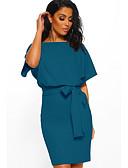 Χαμηλού Κόστους Φορέματα κοκτέιλ-Ίσια Γραμμή Με Κόσμημα Κοντό / Μίνι Ζέρσεϊ Μινιμαλιστική Κοκτέιλ Πάρτι / Αργίες Φόρεμα 2020 με Φιόγκος(οι)