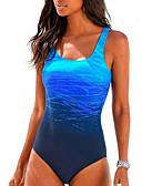 ราคาถูก ชุดว่ายน้ำแบบวันพีช-สำหรับผู้หญิง ชุดว่ายน้ำ สแปนเด็กซ์ Bodysuit แห้งเร็ว ความยืดหยุ่นสูง เสื้อไม่มีแขน การว่ายน้ำ Surfing Reactive Print ฤดูร้อน ตก