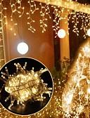 זול מטען כבלים ומתאמים-uk תקע 3m * 3m 300 הוביל אורות מסך icicle לטבול הוביל חם לבן המפלגה / דקורטיביים / חתונה 220-240 v 1pc