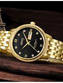 זול שעונים-בגדי ריקוד גברים שעון מכני אוטומטי נמתח לבד סגנון וינטג' מסוגנן מתכת אל חלד כסף / זהב 30 m שעונים יום יומיים יום תאריך אנלוגי יום יומי אופנתי - מוזהב לבן זהב / כסף / לבן זהב / כסף / שחור