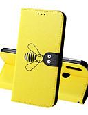 baratos Capinhas para Huawei-Capinha Para Huawei Huawei Honor 10 / Honra 10 Lite / Honra V20 Carteira / Porta-Cartão / Antichoque Capa Proteção Completa Sólido / Animal Rígida PU Leather
