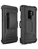 זול מגנים לטלפון-מגן עבור Samsung Galaxy S9 Plus עמיד בזעזועים / עם מעמד כיסוי אחורי שִׁריוֹן PC
