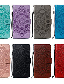 baratos Capinhas para iPhone-Capinha Para Apple iPhone XS / iPhone XR / iPhone XS Max Carteira / Porta-Cartão / Com Suporte Capa Proteção Completa Flor Rígida PU Leather