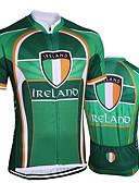 זול לבנים סטים של ביגוד לתינוקות-21Grams אירלנד דגל לאומי בגדי ריקוד גברים שרוולים קצרים חולצת ג'רסי לרכיבה - ירוק אופניים ג'רזי צמרות נושם פתילת לחות ייבוש מהיר ספורט טרילן רכיבת הרים רכיבת כביש ביגוד / מיקרו-אלסטי / מידת Race Fit