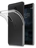 baratos Relógios de aço-Capinha Para Nokia Nokia 7 / Nokia 6 Anti-poeira Capa traseira Sólido Macia TPU