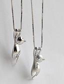 billiga Slipsar och flugor-personlig Anpassat Halsband Namn halsband S925 Sterling Silver Klassisk namn Engraverad Gåva Löfte Festival Oregelbunden 1pcs Silver / Lasergravyr