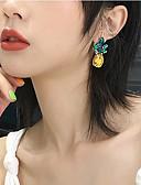 ราคาถูก เข็มขัดแฟชั่น-สำหรับผู้หญิง สีเหลือง Cubic Zirconia ต่างหูติดหู Körte Pineapple เครื่องประดับชิ้นใหญ่ คริสตัล ส่วนบุคคล โบฮีเมียน เลียนแบบเพชร ต่างหู เครื่องประดับ สีทอง สำหรับ ปาร์ตี้ บาร์ เทศกาล 1 คู่