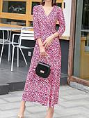 povoljno Print Dresses-Žene Osnovni Korice Haljina - Vezanje straga Kolaž Print Maxi