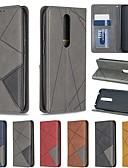 ราคาถูก เคสสำหรับโทรศัพท์มือถือ-Case สำหรับ โทรศัพท์ Nokia Nokia 4.2 / Nokia 3.2 / Nokia 1 Plus Card Holder / Shockproof / with Stand ตัวกระเป๋าเต็ม เลขาคณิต Hard หนัง PU