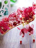 billige Smokings-Tyll med Blomst 1 Deler Bryllup / Gratulerer Hodeplagg