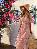 olcso Női szoknyák-Női Ing Ruha Egyszínű Midi