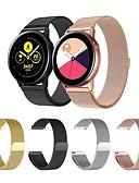 baratos Bandas de Smartwatch-Pulseiras de Relógio para Gear Sport / Gear S2 / Samsung Galaxy Watch 42 Samsung Galaxy Pulseira Esportiva / Pulseira Estilo Milanês Aço Inoxidável Tira de Pulso