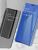 baratos Capinhas para Huawei-Capinha Para Huawei Huawei Mate 20 lite / Huawei Mate 20 pro / Huawei Mate 20 Antichoque / Galvanizado / Espelho Capa Proteção Completa Sólido Rígida PU Leather