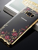 זול מגנים לטלפון-מגן עבור Samsung Galaxy S9 / S9 Plus / S8 Plus עמיד בזעזועים / עמיד לאבק / תבנית כיסוי אחורי פרח רך TPU