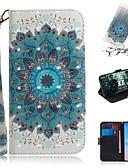 baratos Cases & Capas-Capinha Para Samsung Galaxy S9 / S9 Plus / S8 Plus Carteira / Porta-Cartão / Antichoque Capa Proteção Completa Flor PU Leather