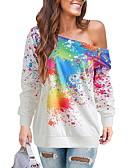 ราคาถูก เสื้อฮู้ดและเสื้อกันหนาวสเว็ตเชิ้ตผู้หญิง-สำหรับผู้หญิง ไม่เป็นทางการ เสวทเชิร์ท ลายบล็อคสี
