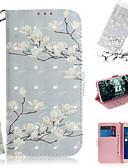 baratos Capinhas para iPhone-Capinha Para Asus ASUS Zenfone max M1 ZB555KL Carteira / Porta-Cartão / Com Suporte Capa Proteção Completa Flor PU Leather