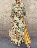 povoljno Vintage kraljica-Žene Vintage Swing kroj Haljina Geometrijski oblici Maxi
