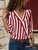 cheap Women's Clothing-Women's Daily Blouse - Striped Black