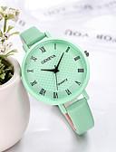 Χαμηλού Κόστους Δερμάτινο ρολόι-Γυναίκες Geneva ρολόι καραμέλα χρώματος μικρή ταινία μόδας casual ρολόι
