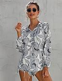 billige Bluser-Bluse Dame - Blomstret, Trykt mønster Grunnleggende Hvit