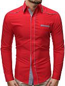 olcso Férfi pólók-Alap Férfi Ing - Egyszínű, Fűzős Kék / Piros Világoskék